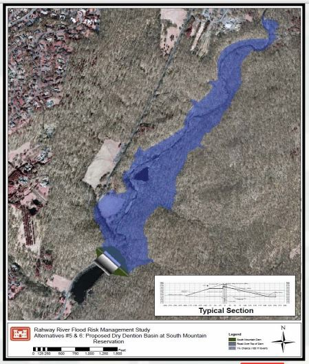 USACE Topo map with overlay of March 2014 dam