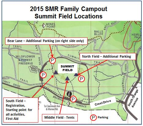 2015 Campout Locations