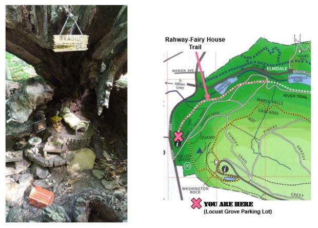 Fairy House Trail map and photo